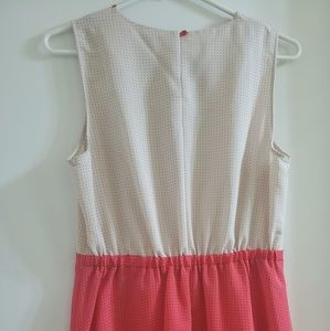 Petticoat Alley Dresses - White & Coral Sleeveless Baby Doll Dress